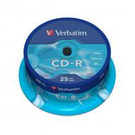 Verbatim CD-R Spindl Extra Protection, 52x, 700MB, (25-pack)