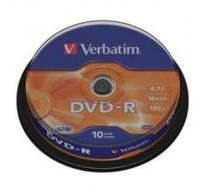Verbatim DVD-R Spindle 4.7 GB 16x - 10ks