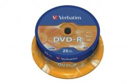 VERBATIM DVD-R (25-pack) Spindle/General Retail/16x/4,7GB