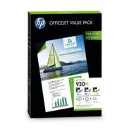 Bundle HP 920XL Value Pack (CMY) | + papír | A4 | 50listů | Officejet