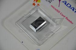 ADATA Čtečka MicroSD karet Ver. 3 USB 2.0, miniaturní, externí, černá - Fotka 3/3