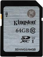 Kingston 64GB SDHC/SDXC - UHS-I class 10