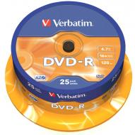 Verbatim DVD-R Spindle General Retail 16x - 25ks