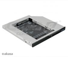 "AKASA HDD box N.Stor S9, 2.5"" SATA do pozice 5,25"" SATA (výška HDD do 9,5mm) - Fotka 1/3"