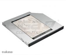 "AKASA HDD box N.Stor S9, 2.5"" SATA do pozice 5,25"" SATA (výška HDD do 9,5mm) - Fotka 2/3"