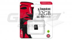 Kingston 32 GB microSDHC Class10 UHS-I - Fotka 2/3