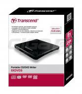 Transcend externí DVD vypalovačka slim, USB 2.0, Black - Fotka 2/2
