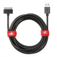 JuicEBitz® Thick 20AWG USB Charger Cable Lead for iPad 3, 2, 1 - black