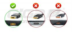 Lenovo redukce Kulatý (7.7mm) na Lenovo Slim Tip (hranatý 10.5mm) - Fotka 1/3