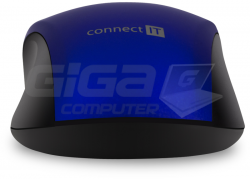 Connect IT MUTE bezdrátová optická tichá myš, modrá - Fotka 5/7
