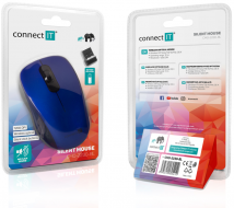 Connect IT MUTE bezdrátová optická tichá myš, modrá - Fotka 7/7