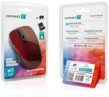 Connect IT MUTE bezdrátová optická tichá myš, červená - Fotka 7/7