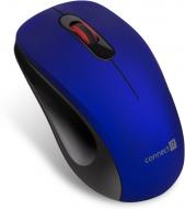 Connect IT MUTE bezdrátová optická tichá myš, modrá