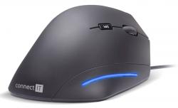 Connect IT FOR HEALTH ergonomická vertikální drátová myš