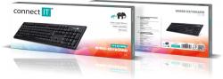 Connect IT kancelářská klávesnice, USB, černá - Fotka 5/5