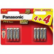 Baterie Panasonic PRO POWER AAA, LR03, tužková, 1,5V, blistr 8ks