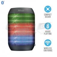 Reproduktory TRUST Ziva Wireless Bluetooth Speaker with party lights (21967), černý - Fotka 1/4