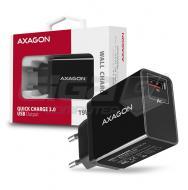 AXAGON ACU-QC19, nabíječka do sítě, 1x port QC3.0/AFC/FCP/SMART, 19W, Black - Fotka 6/6