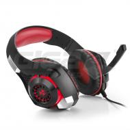 Sluchátka Connect IT BIOHAZARD herní sluchátka s mikrofonem, červená - Fotka 2/5