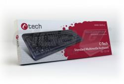 C-Tech klávesnice KB-102 USB, slim, CZ/SK - Black - Fotka 4/4