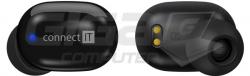 Sluchátka Connect IT True Wireless SensorTouch sluchátka do uší s mikrofonem, ČERNÁ - Fotka 7/9