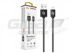 Aligator datový a nabíjecí kabel, konektor Lightning, 2A,1m, černá - Fotka 2/3