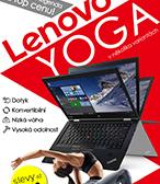 2v1, dotyk, nizka vaha. Lenovo Yoga od 10790 Kc.